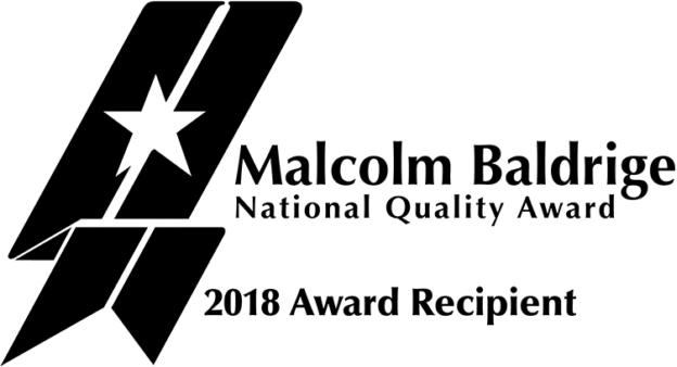 Malcolm Baldrige National Quality Award 2018 Award Recipient Logo